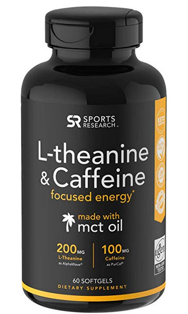 best caffeine pill pick - sports research l-theanine caffeine pills