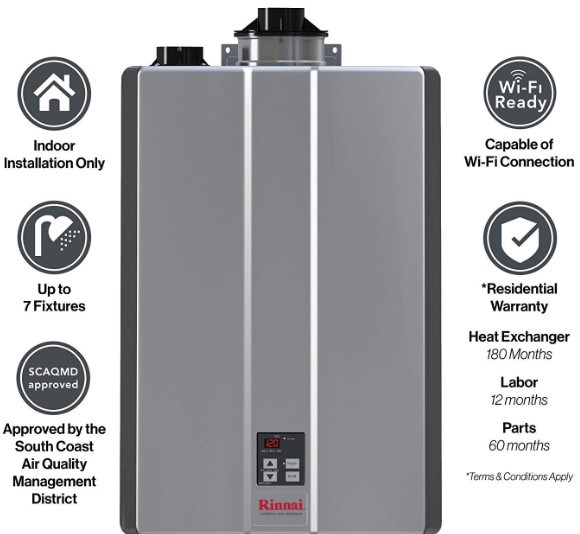 Rinnai RUR Series Sensei SE+ Tankless Hot Water Heater