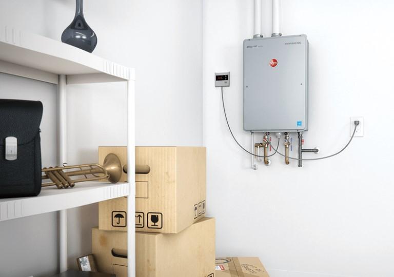 A Rheem Tankless Water Heater