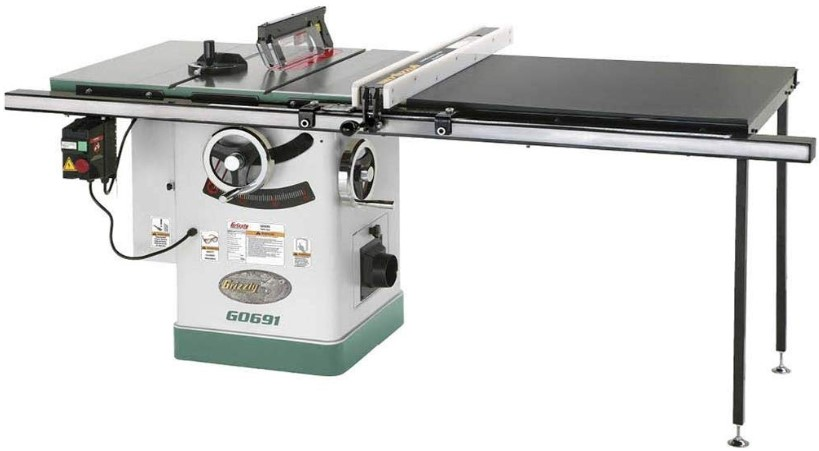 "Review of Grizzly Industrial G0691-10"" 3HP 220V Cabinet Table Saw"