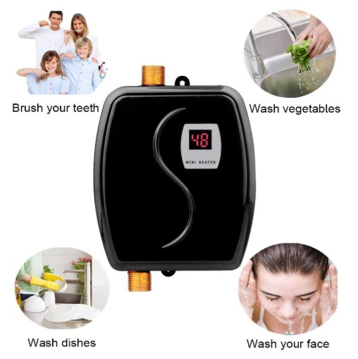 Mini Instant Water Heater Electric Under Sink, 110V 3000W Hot Water Heater