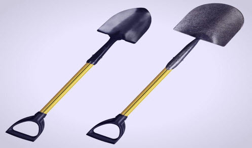 common spade and shovel