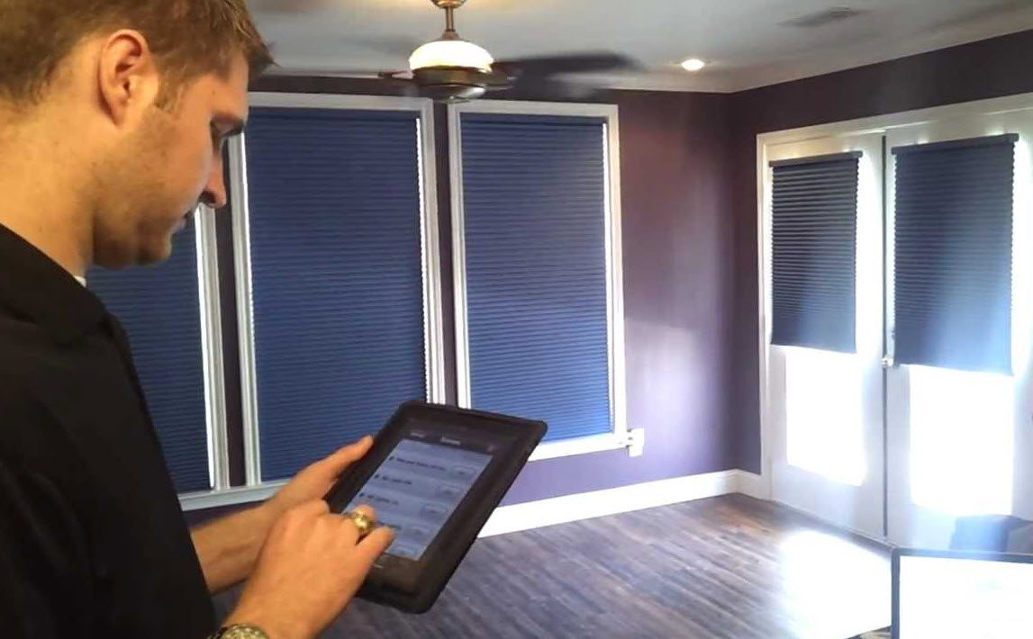 use automated blinds to prevent outside view and penetration