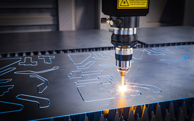 Laser Engraving Machine cutting in metal sheet